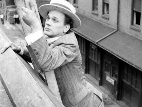 Cotten apparently risked life and limb doing stunts for Welles's homage to Harold Lloyd's Safety Last and to Buster Keaton.