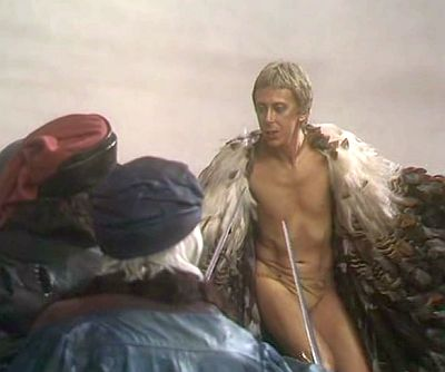 David Dixon (right) as Ariel in the BBC version