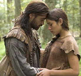 Colin Farrell and Q'orianka Kilcher in The New World