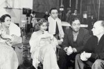 Alice Brady, Carole Lombard, Mischa Auer, William Powell, and director Gregory La Cava on the set of My Man Godfrey