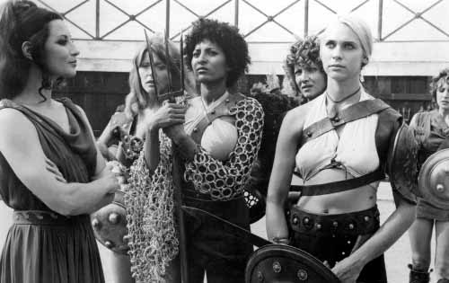 Pam Grier and Margaret Markov (center and right) in The Arena