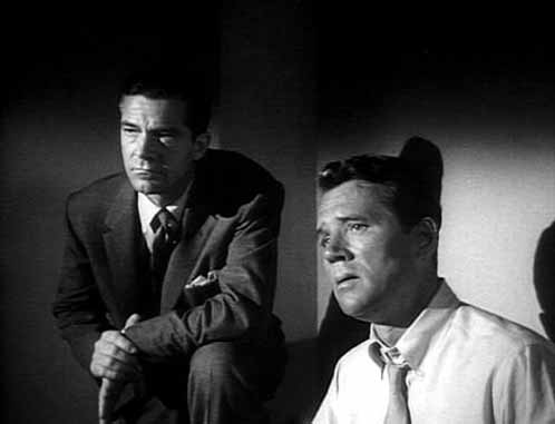 Dana Andrews and Howard Duff in Fritz Lang's While the City Sleeps