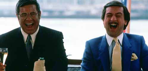 Jerry Lewis and Robert De Niro in The King of Comedy