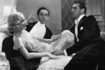 Miriam Hopkins, Fredric March, and Gary Cooper in Design for Living, written by Noel Coward, directed by Ernst Lubitsch
