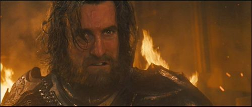 The rapist descends into his own hell. (screenshot from Maleficent with Sharlto Copley)