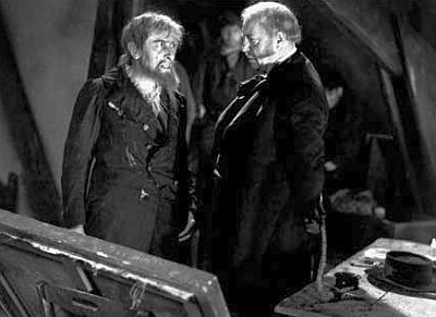 Charles Dullin (Thénardier) and Harry Baur (Valjean) in Les Miserables (1933)