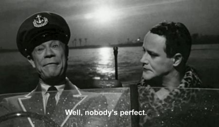 """Nobody's perfect"": Joe E. Brown and Lemmon"