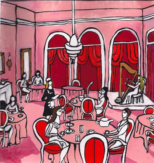 The Love Witch: Set design for the tea room sequence