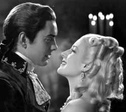 with Tyrone Power in Marie Antoinette