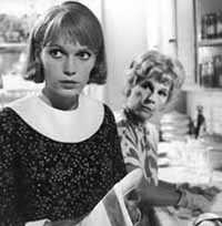 Mia Farrow and Ruth Gordon in Rosemary's Baby