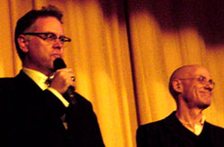 Muller with James Ellroy at the 2008 Noir City Film Festival in San Francisco