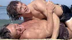 Andrew Stevens and Kirk Douglas in The Fury
