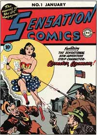 Wonder Woman's first comic book cover