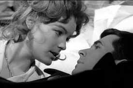 Romy Schneider and Perkins in The Trial