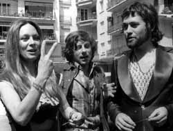 Francesca Annis, Polanski, and Jon Finch during the making of Macbeth