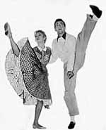 Marge and Gower Champion hoofing it