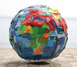 Plastic World, a sculpture by Nuno Maya and Carole Purnelle