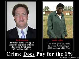 Crime does pay for the 1%