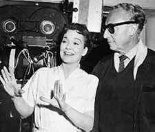 Jane Wyman and Sirk on the set of All That Heaven Allows