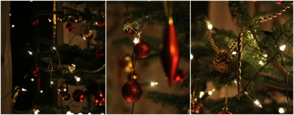 Detail shots of Christmas tree
