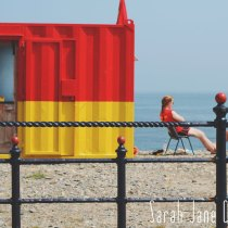 Bray beach in summer