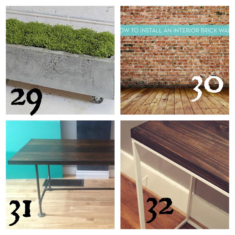 DIY Industrial Furniture Round Up