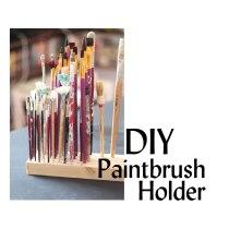 DIY paintbrush holder