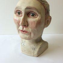 ceramic bust by sarah jane colleran