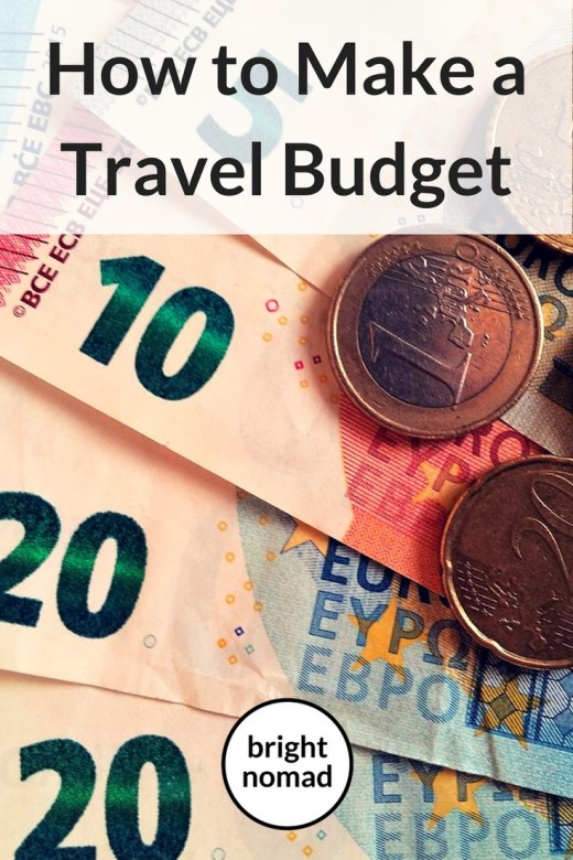 How to Make a Travel Budget - Text, banknotes and coins