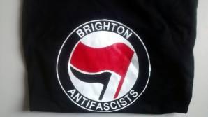 Brighton Antifascists T-shirt. Sizes S to XL. £10 plus P&P.