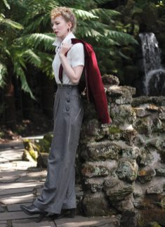 Vintage Style Blog: reproduction 1940s trousers | 1940s reproduction blouse | suspenders | 1950s | teddy girl
