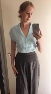 Trousers: Vivien of Holloway / Blouse: Revival