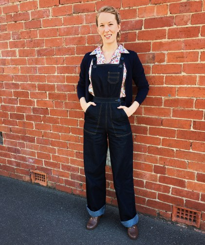 Dungarees: Freddies of Pinewood / Blouse & Cardigan: Princess Highway