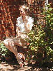 Vintage Style Blog: reproduction 1940s blouse   reproduction 1930s sport shorts   reproduction vintage flats