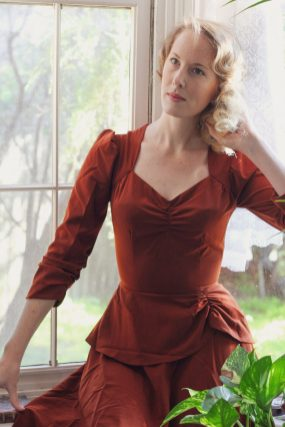 Brighton Bacall Vintage Style Blog: reproduction 1930s Double Trouble Dress in cinnamon from Emmy Design Sweden