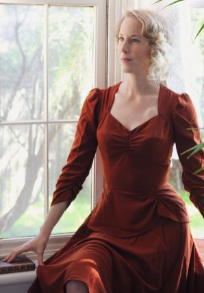 Vintage Style Blog: reproduction 1930s Double Trouble Dress in cinnamon from Emmy Design Sweden