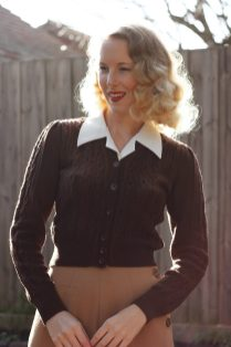 Brighton Bacall Vintage Style Blog: reproduction 1940s Ice Skater Jacket from Emmy Design Sweden, Katharine Trousers from Vivien of Holloway, Shirt Blouse from The House of Foxy