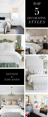Top 5 Decorating Styles and Bedroom Themes