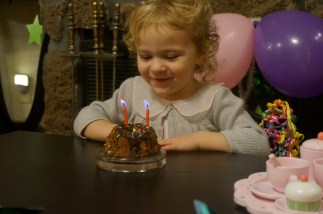 "Enjoying the ""Happy birthday"" song"