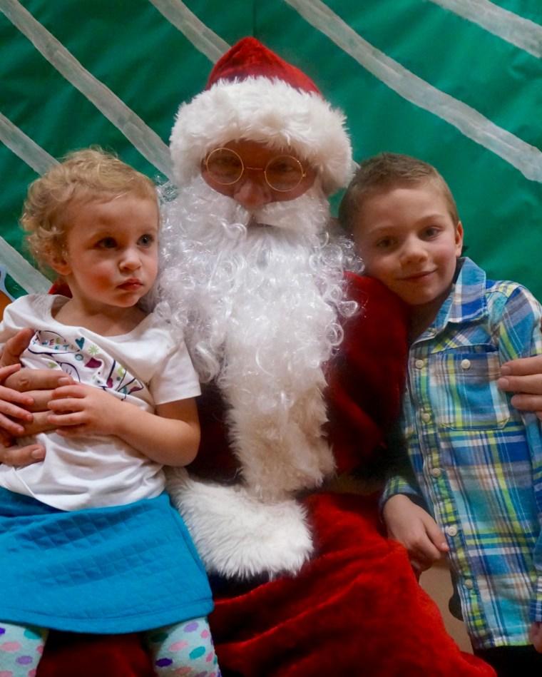 Visiting Santa!
