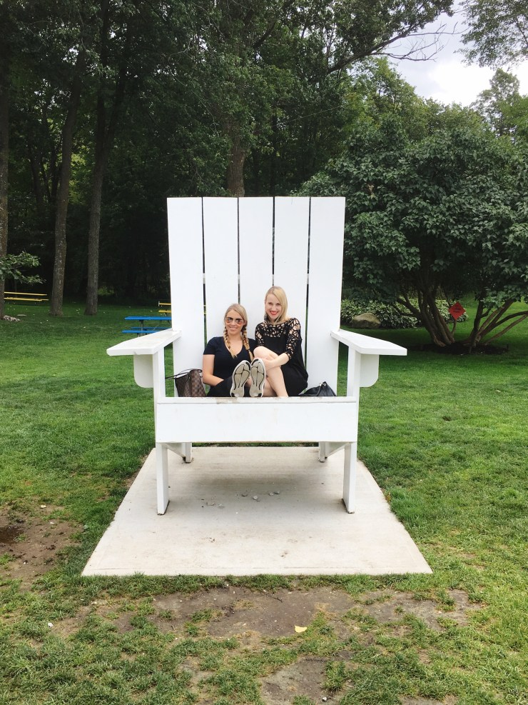 Sisters in a Muskoka Chair