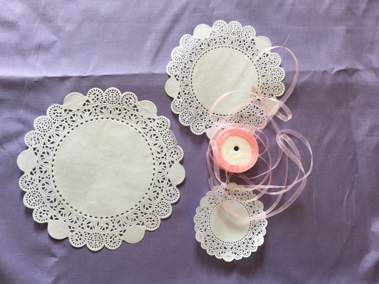 DIY Doily Banner Supplies