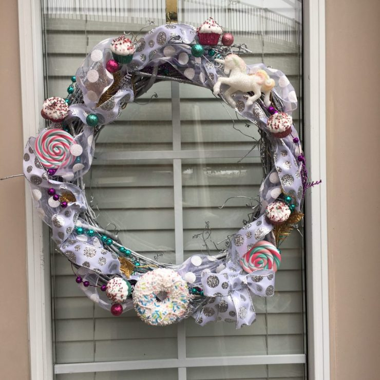 Candy themed Christmas wreath