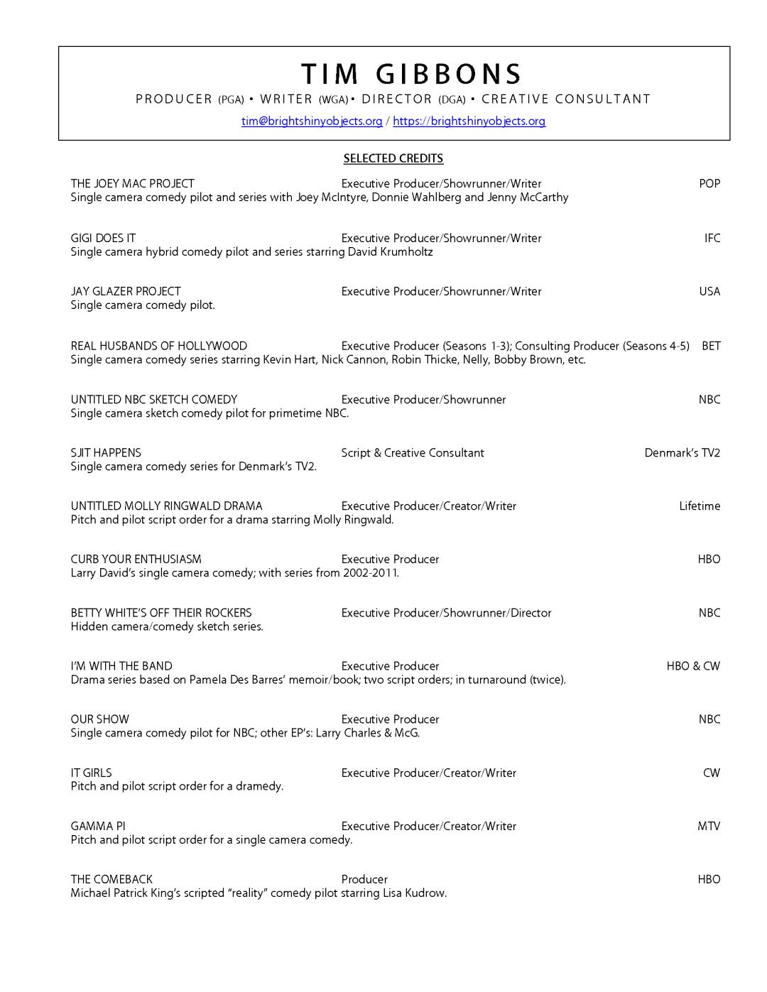 Tim's Resume