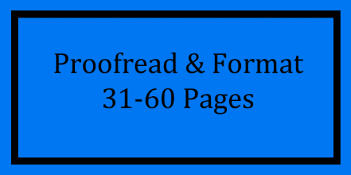Proofread & Format 31-60 Pages Logo