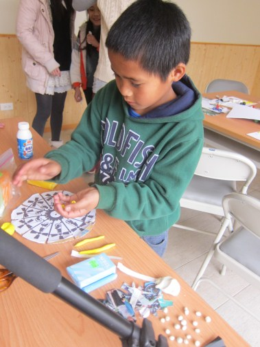 Working hard on crafts during a Stop Motion Animation course
