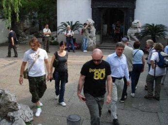 Sixten and Logan Hicks in Shanghai 2006.