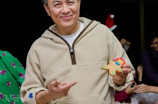One of the founders of this amazing place and his own gingerbread cookie :)
