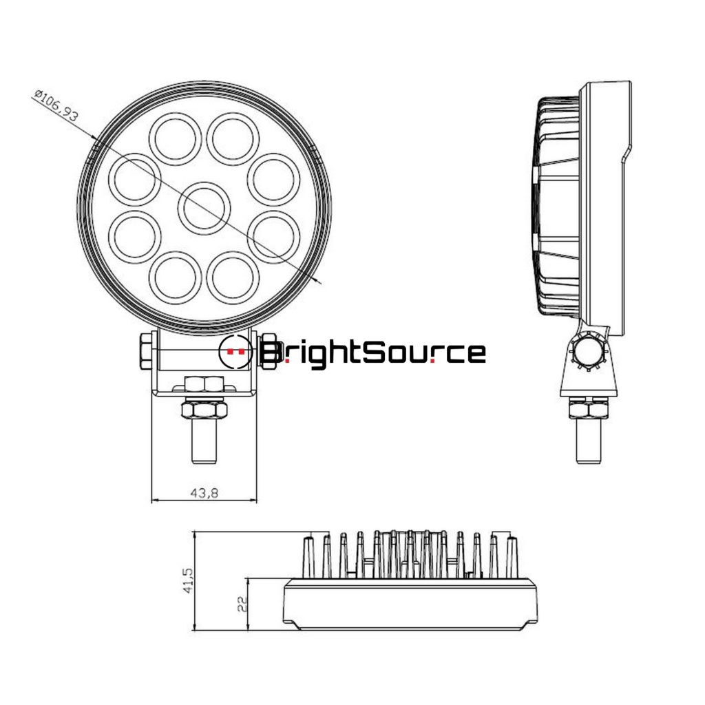 Shop Brightsource 4 Round Work Light Flood At Unmatched