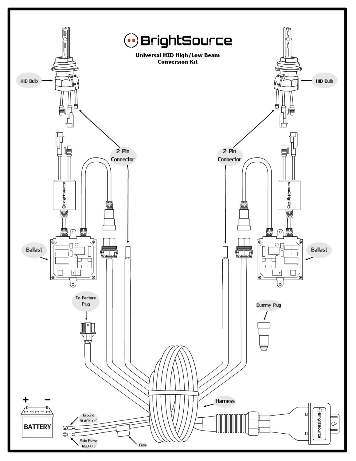 Ford Relay Wiring Diagram For Hid Headlights. Ford. Auto